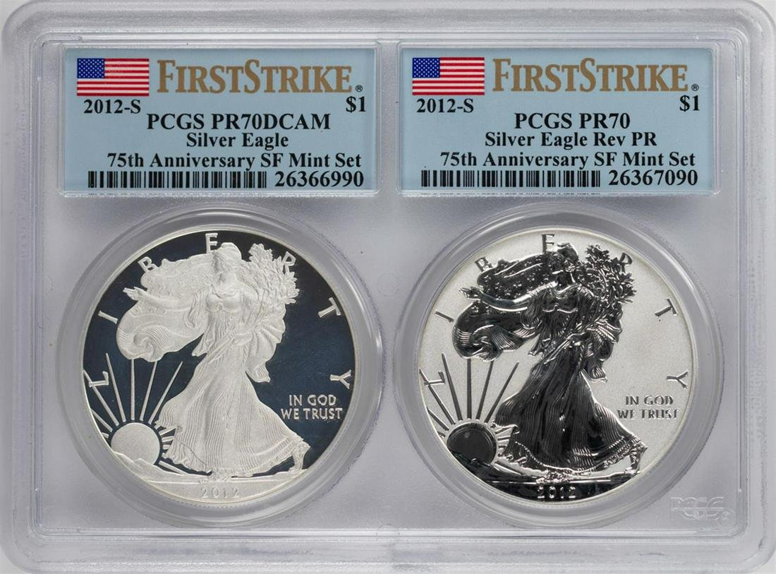 2012-S West Point $1 American Silver Eagle Set PCGS