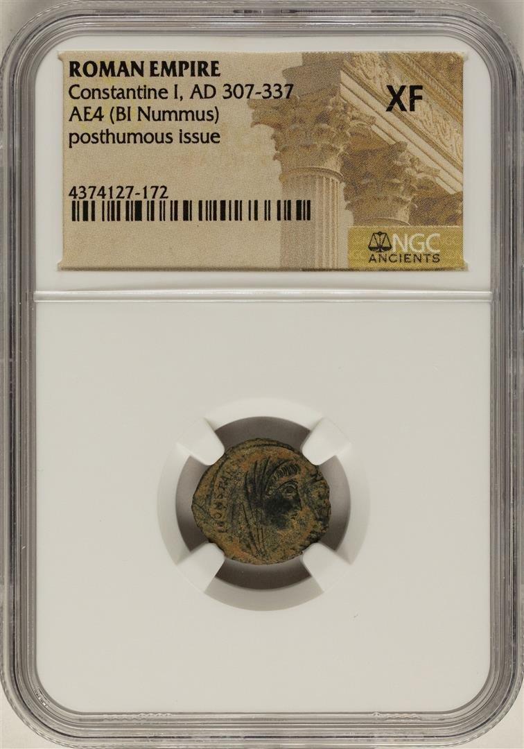 Constantine I, 307-337 AD Ancient Roman Empire Coin NGC