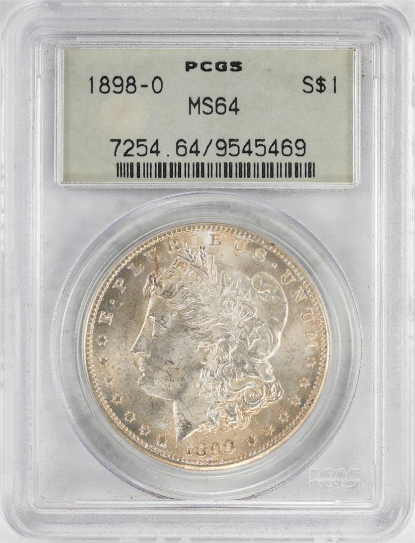 1898-O $1 Morgan Silver Dollar Coin PCGS MS64 Old Green