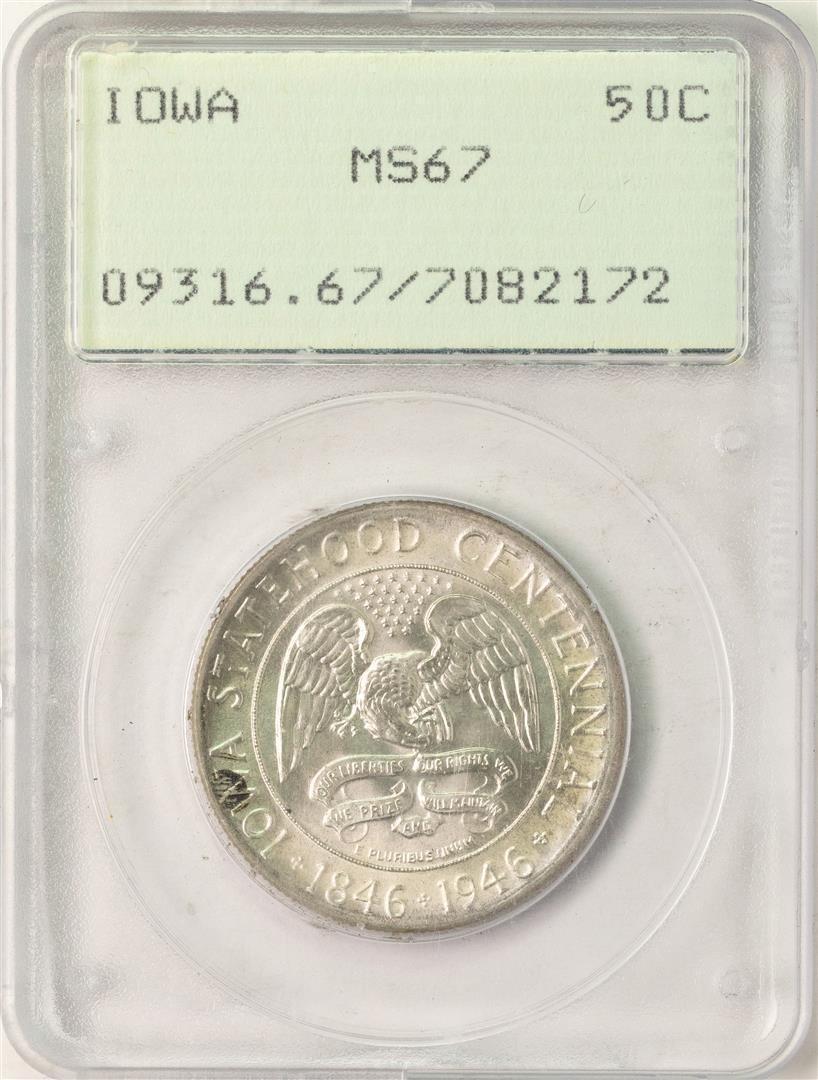 1946 Iowa Centennial Commemorative Half Dollar Coin