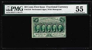 July 17 1862 First Issue 50 Cent Fractional Currency