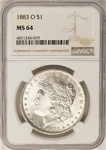 1883O 1 Morgan Silver Dollar Coin NGC MS64