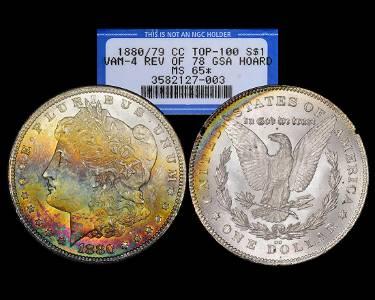 1880/79-CC Rev. of 78 $1 Morgan Silver Dollar Coin GSA