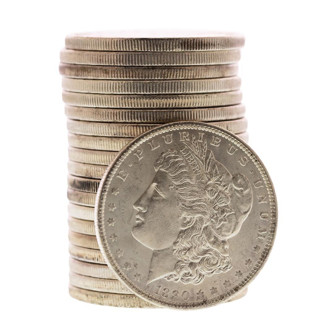 Roll of (20) Brilliant Uncirculated 1890 $1 Morgan