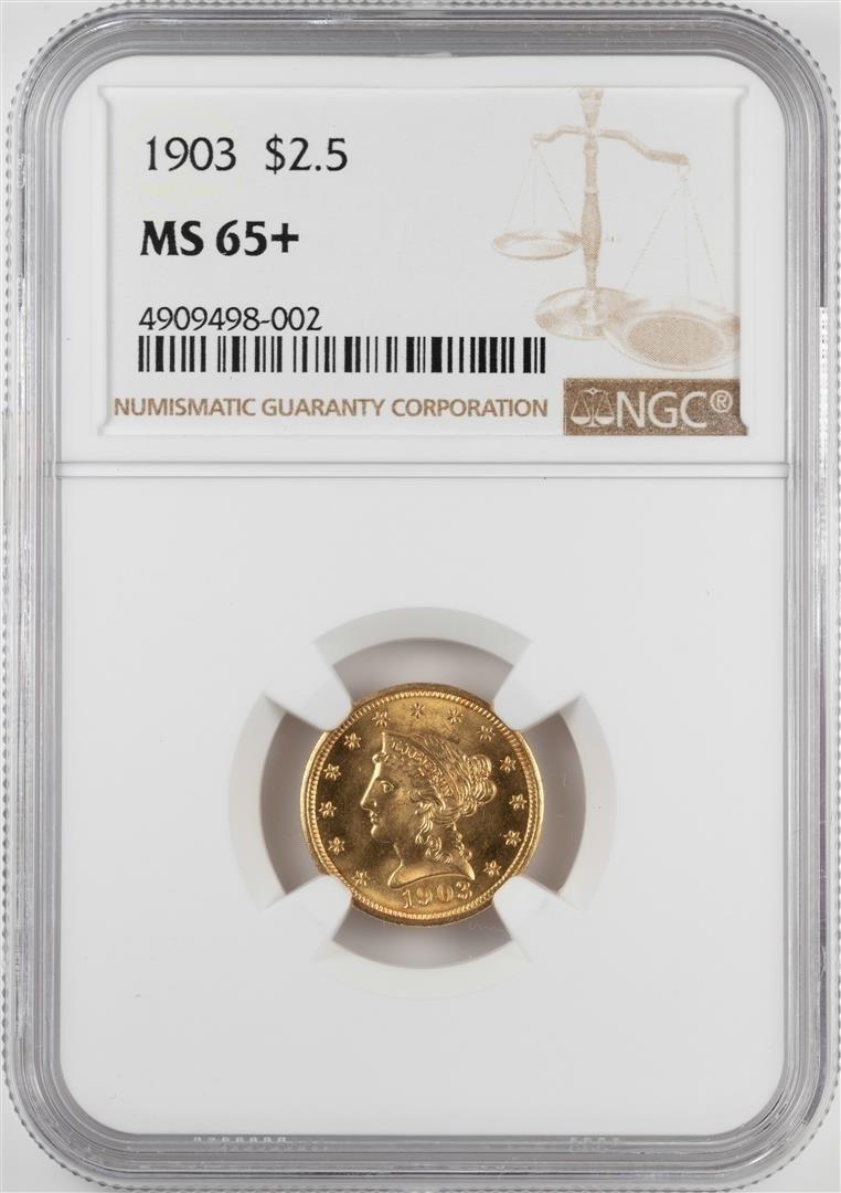1903 $2 1/2 Liberty Head Quarter Eagle Gold Coin NGC