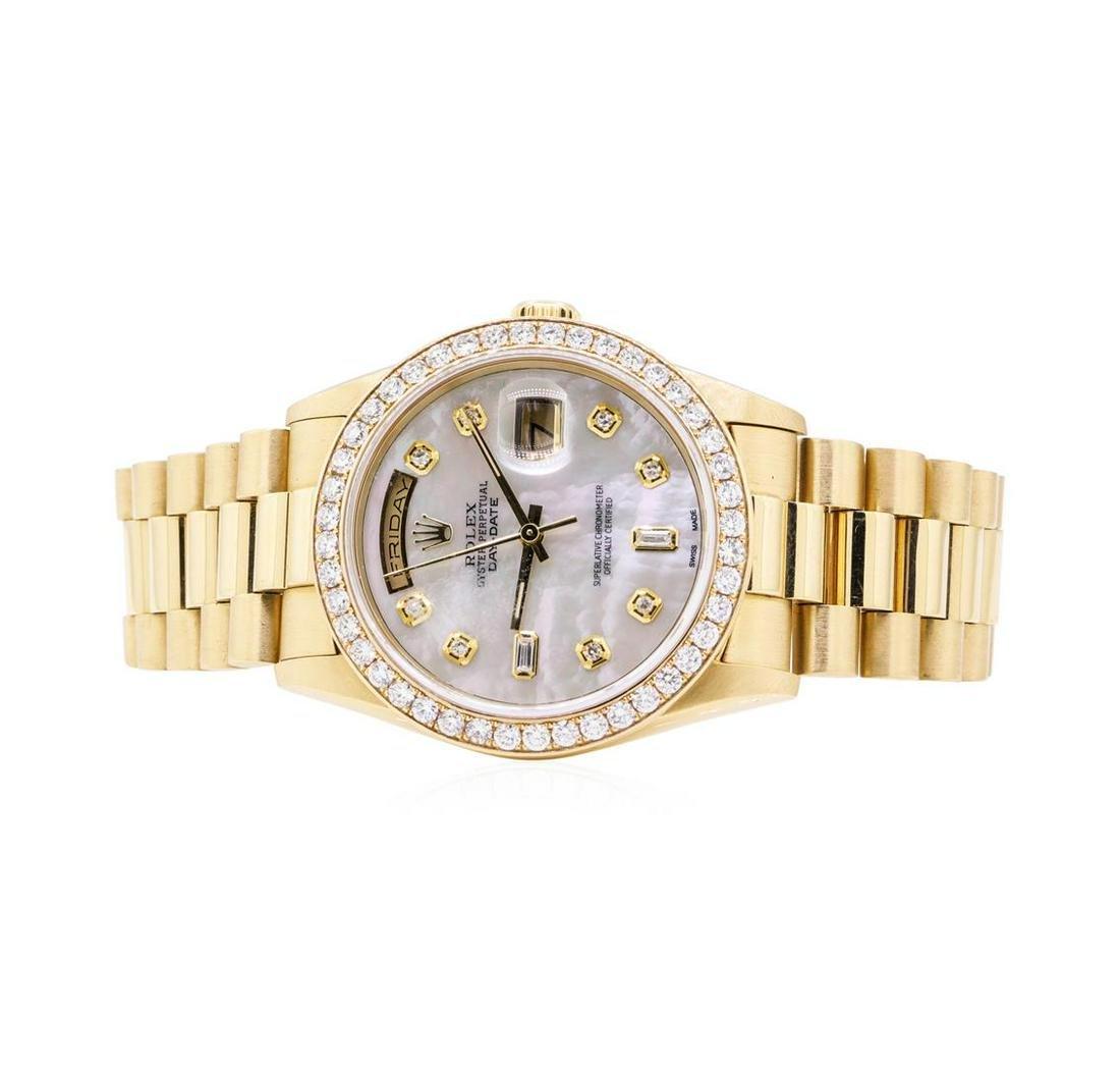 Rolex Mens President 18KT Yellow Gold 2.25ctw Diamond
