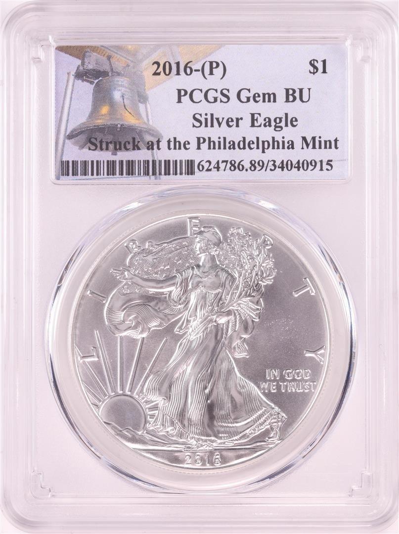 2016-P $1 American Silver Eagle Coin PCGS Gem BU Struck
