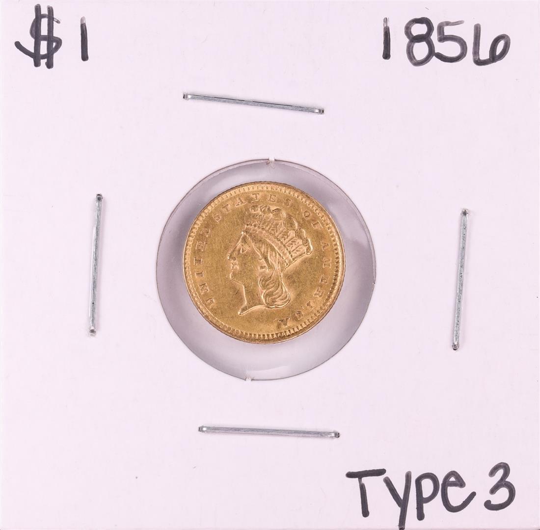 1856 $1 Type 3 Indian Princess Head Gold Dollar Coin