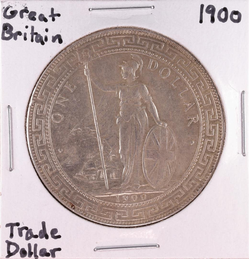 1900 Great Britain Trade Silver Dollar Coin