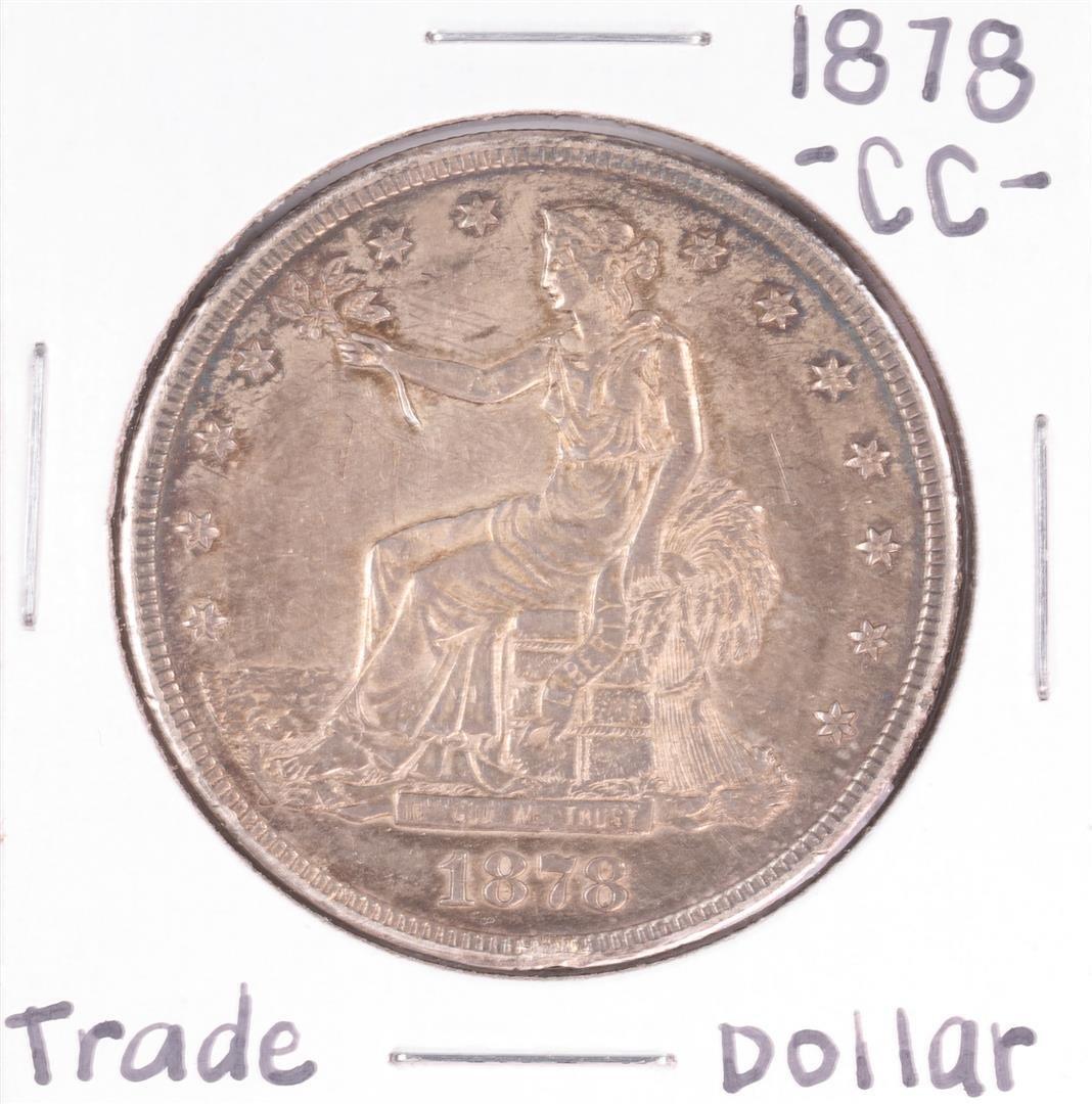 1878-CC $1 Trade Silver Dollar Coin