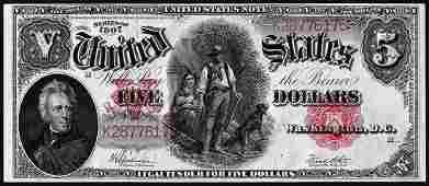 1907 5 Woodchopper Legal Tender Note