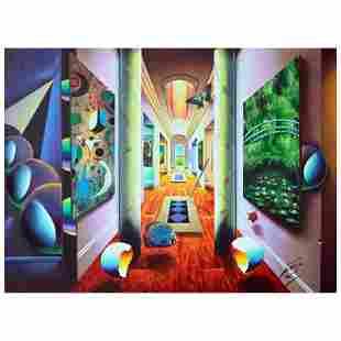 "Ferjo ""Majestic Hallway"" Original Oil On Canvas"