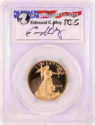 2015-W $25 Proof American Gold Eagle Coin PCGS PR70DCAM