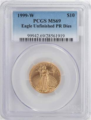 1999-W $10 American Gold Eagle Coin PCGS MS69
