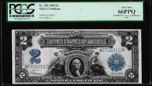 1899 $2 Mini-Porthole Silver Certificate Note Fr.258
