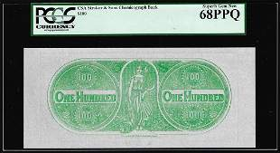 $100 Chemicograph Back Confederate Currency Note PCGS
