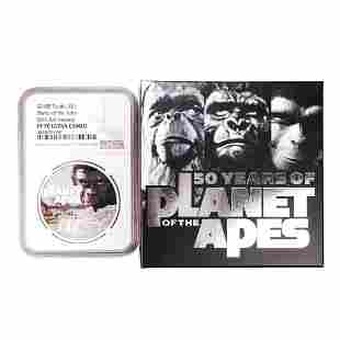 2018P Tuvalu $1 Proof Planet of the Apes Silver Coin