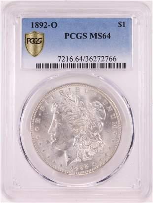 1892-O $1 Morgan Silver Dollar Coin PCGS MS64