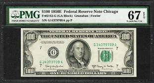 Finest Known 1950E $100 Federal Reserve Note Chicago
