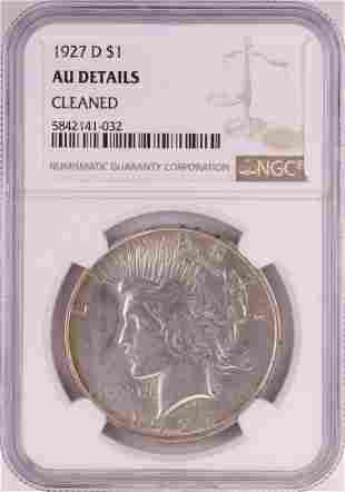 1927-D $1 Peace Silver Dollar Coin NGC Unc Details