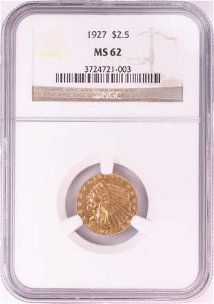 1927 $2 1/2 Indian Head Quarter Eagle Gold Coin NGC