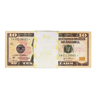 Pack of (100) Consecutive 2004A $10 Federal Reserve