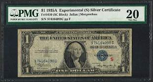 1935A $1 Experimental Silver Certificate Note Fr.1610