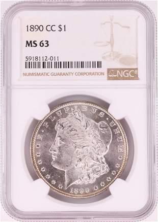 1890-CC $1 Morgan Silver Dollar Coin NGC MS63
