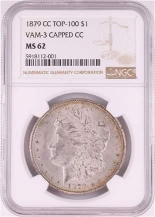 1879-CC VAM-3 Capped CC $1 Morgan Silver Dollar Coin