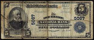 1902PB $5 Rockville National Bank, IN CH# 5067 National