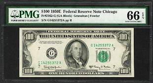 1950E $100 Federal Reserve Note Chicago Fr.2162-G PMG