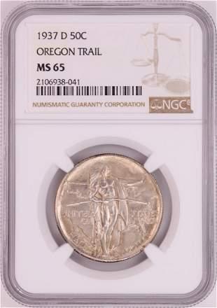 1937-D Oregon Trail Memorial Commemorative Half Dollar