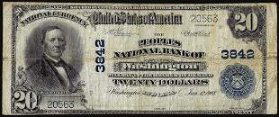 1902PB $20 Peoples National Bank of Washington, IN CH#