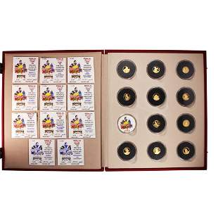 50th Anniversary Set of (11) 1987 Snow White Gold