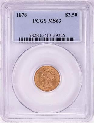 1878 $2 1/2 Liberty Head Quarter Eagle Gold Coin PCGS