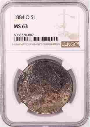 1884-O $1 Morgan Silver Dollar Coin NGC MS63 Great