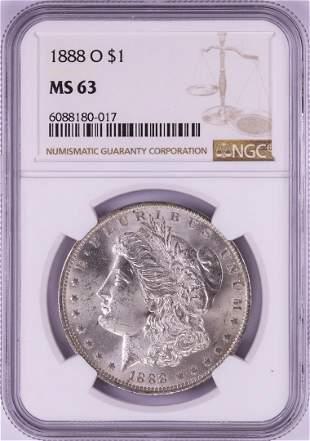 1888-O $1 Morgan Silver Dollar Coin NGC MS63