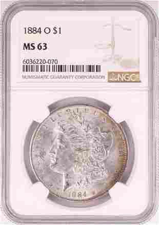 1884-O $1 Morgan Silver Dollar Coin NGC MS63 Nice