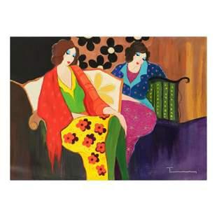 Itzchak Tarkay (1935-2012) Untitled Original Acrylic On