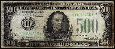 1934A $500 Federal Reserve Note St. Louis