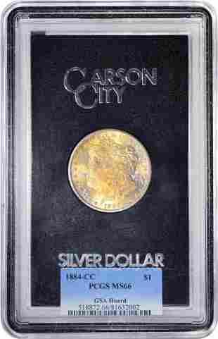 1884-CC $1 Morgan Silver Dollar Coin GSA Hoard PCGS