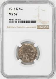 1915-D Buffalo Nickel Coin NGC MS67