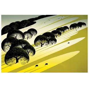 """Eyvind Earle (1916-2000) """"Cattle Country"""" Limited"""
