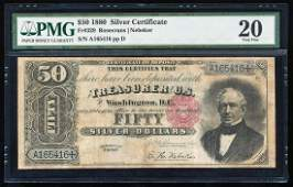 1880 $50 Silver Certificate Note Fr.329 PMG Very Fine