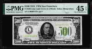 1934 $500 Federal Reserve Note San Francisco PMG Choice