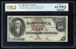 1880 $10 Silver Certificate Note Fr.289 PCGS Gem