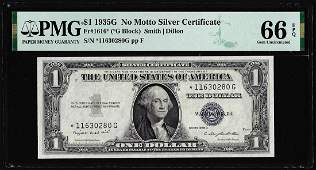 1935G No Motto Silver Certificate STAR Note Fr.1616*