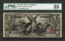 1896 $5 Educational Silver Certificate Note Fr.268 PMG