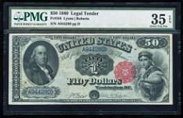 1880 $50 Legal Tender Note Fr.164 PMG Choice Very Fine