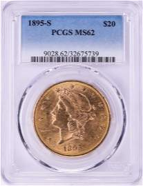1895-S $20 Liberty Head Double Eagle Gold Coin PCGS